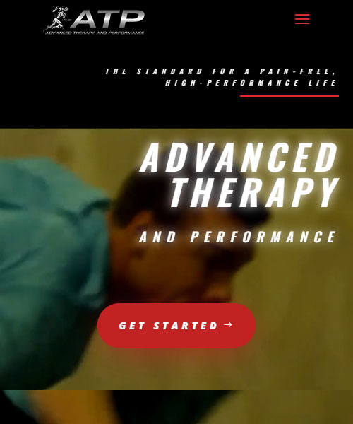Advanced Therapy Performance Mobile Website Portfolio
