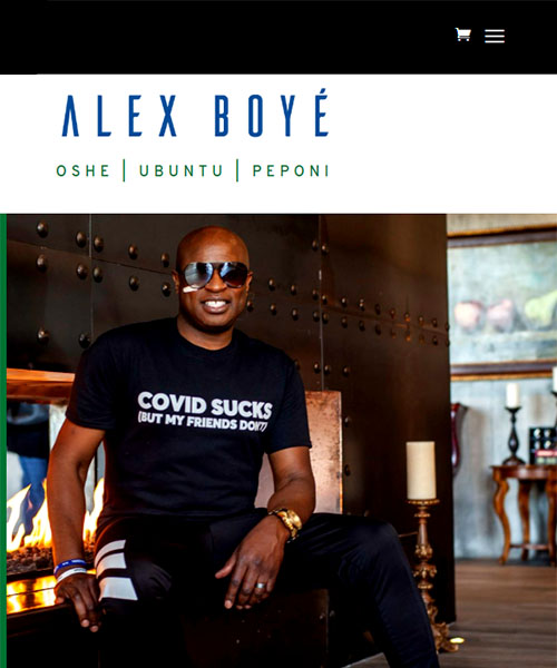 Alex Boye Mobile Website Portfolio