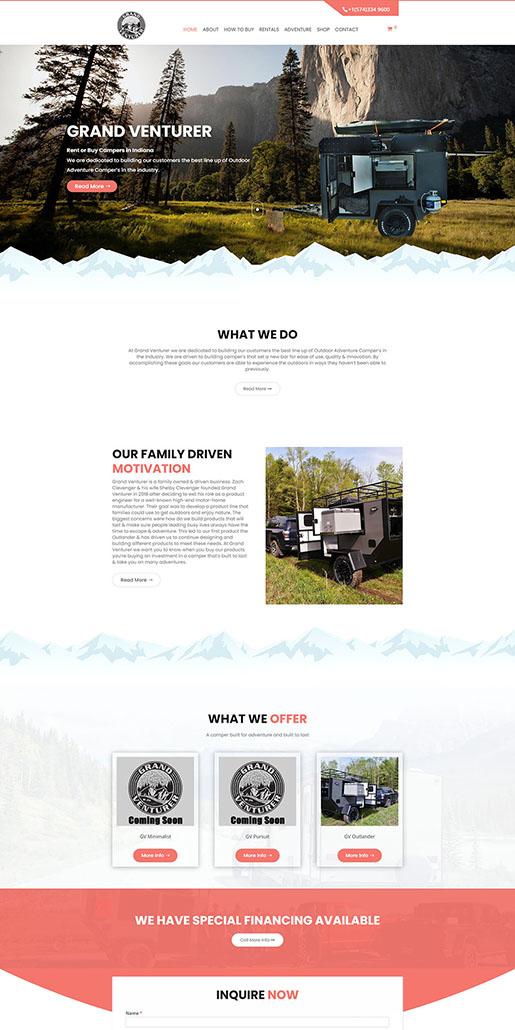 Grand Venturer Website Portfolio