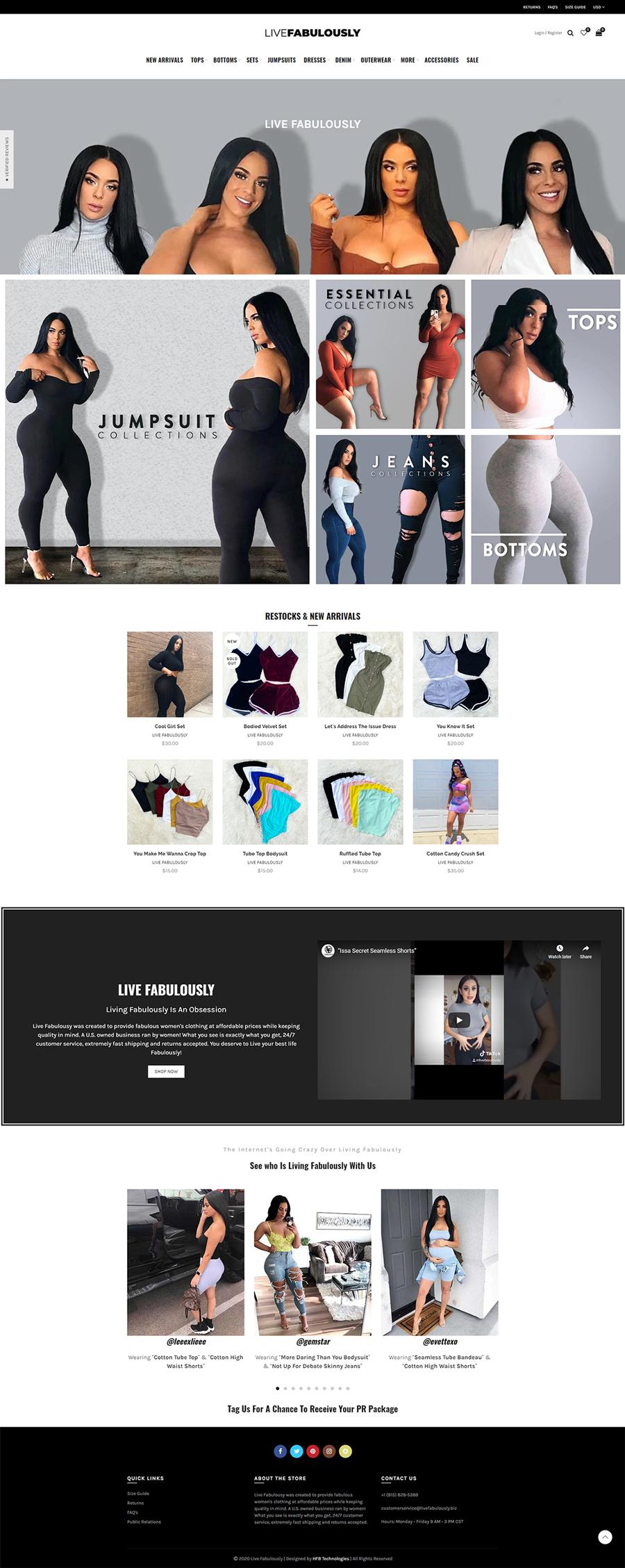 Live Fabulously Website Portfolio