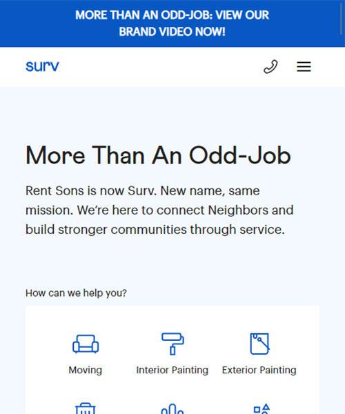 Rent Sons Mobile Website Portfolio
